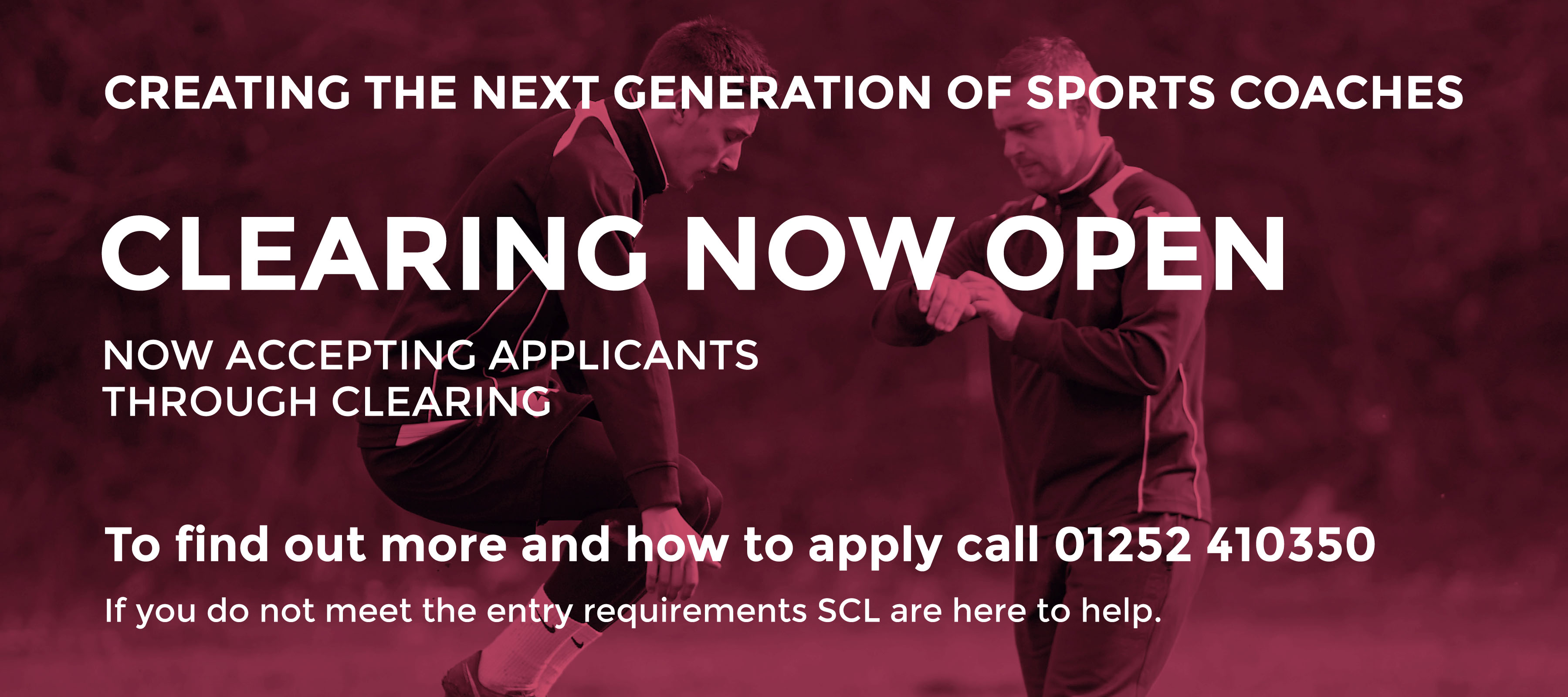 Foundation degree in sports coaching with SCL and De montfort university