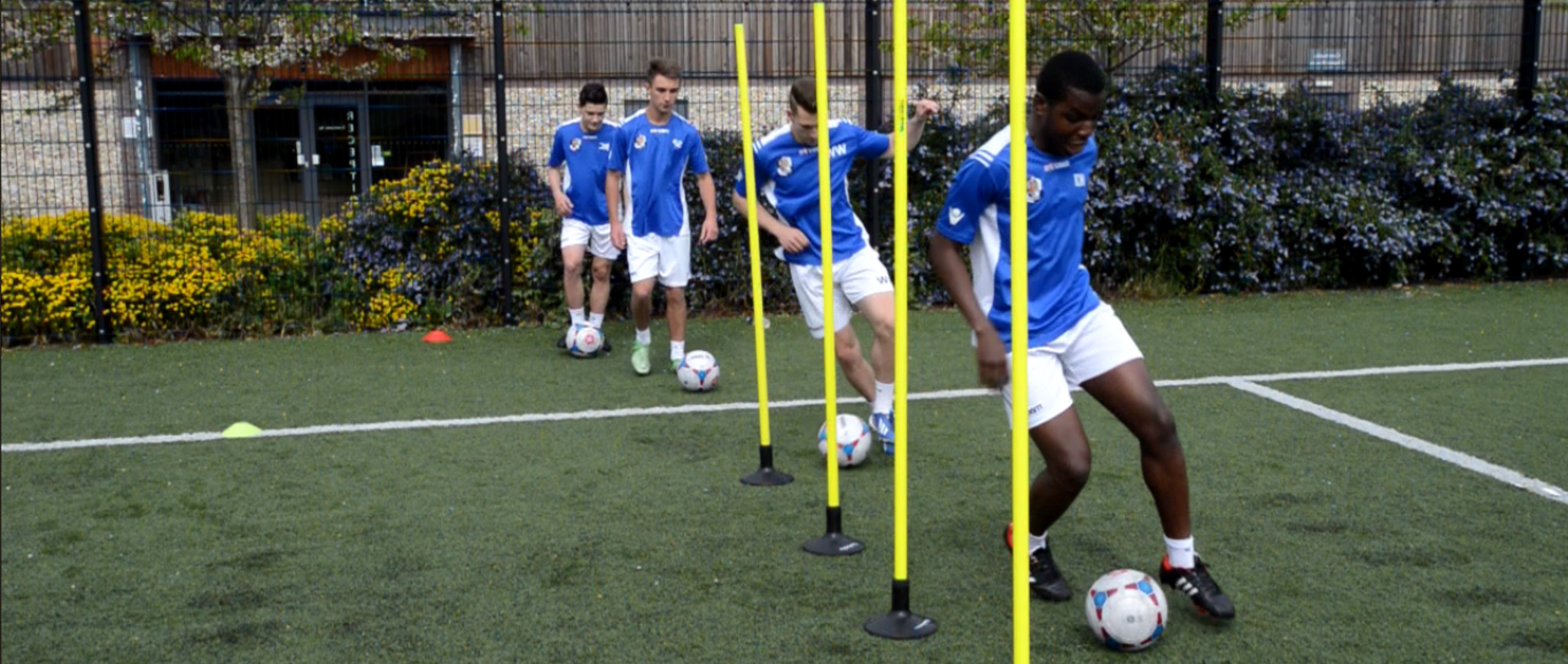 Dartford FC football Academy for 16-18 year olds run in partnership with SCL
